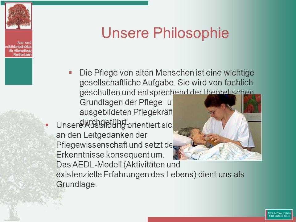 Aus- und Fortbildungsinstitut für Altenpflege Rodenbach Schriftlicher Prüfungsteil (3 Bereiche á 120 Minuten) Theoretische Grundlagen.