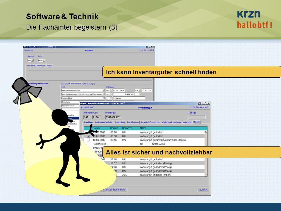 hallobtf! gmbh / Kai-Inventarisierungstag 2010 / Seite 37 Software & Technik Die Fachämter begeistern (3) Ich kann Inventargüter schnell finden Alles