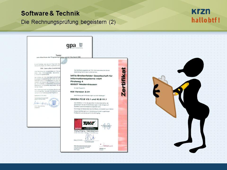 hallobtf! gmbh / Kai-Inventarisierungstag 2010 / Seite 43 Software & Technik Die Rechnungsprüfung begeistern (2)