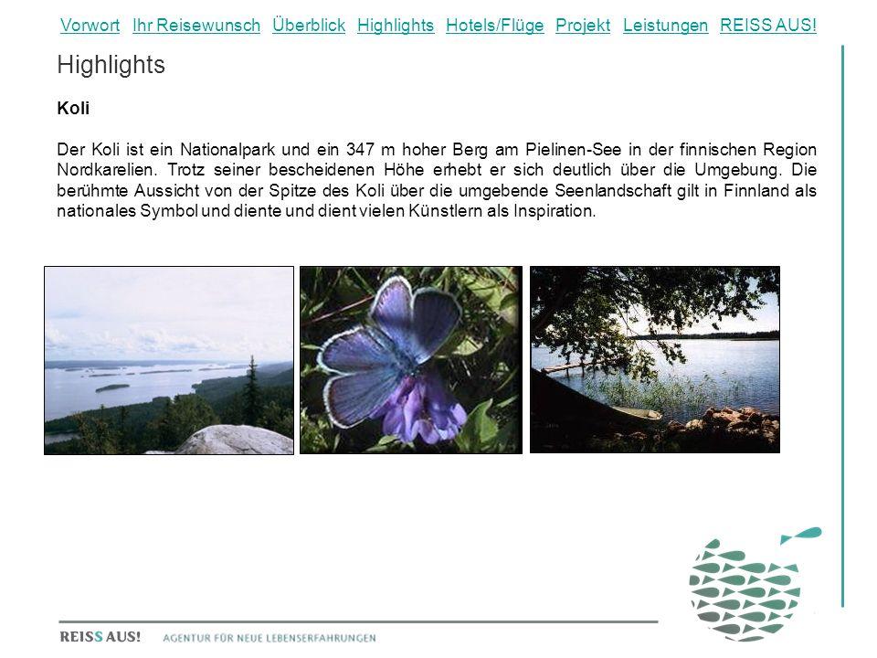 Highlights Koli Der Koli ist ein Nationalpark und ein 347 m hoher Berg am Pielinen-See in der finnischen Region Nordkarelien. Trotz seiner bescheidene