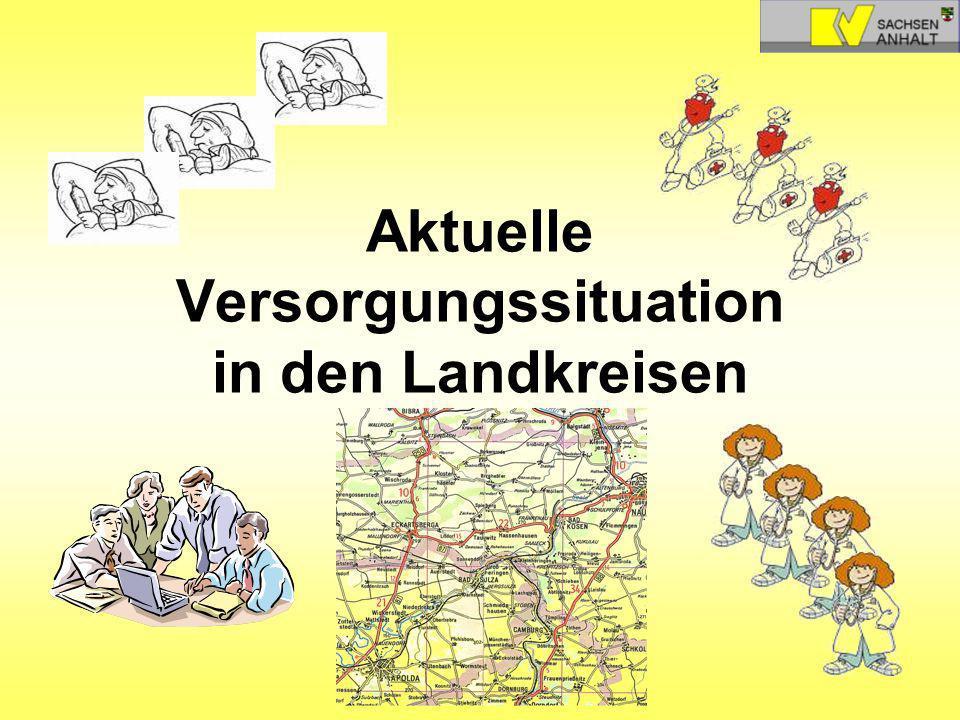 Aktuelle Versorgungssituation in den Landkreisen