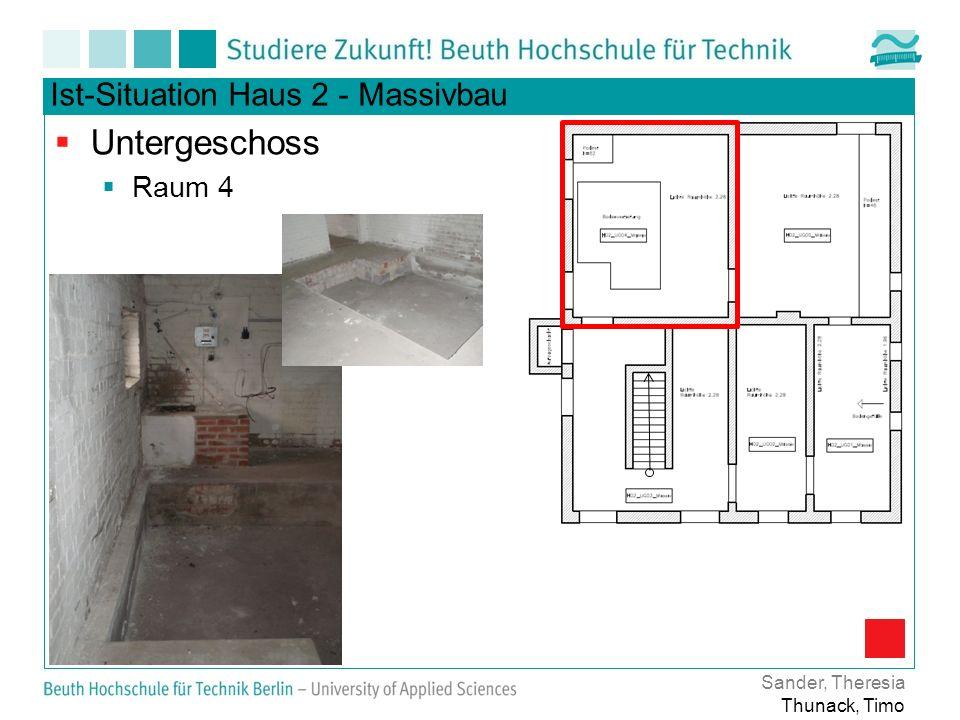 Ist-Situation Haus 2 - Massivbau Untergeschoss Raum 4 Sander, Theresia Thunack, Timo