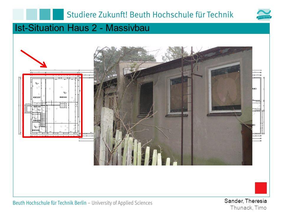 Ist-Situation Haus 2 - Massivbau Sander, Theresia Thunack, Timo