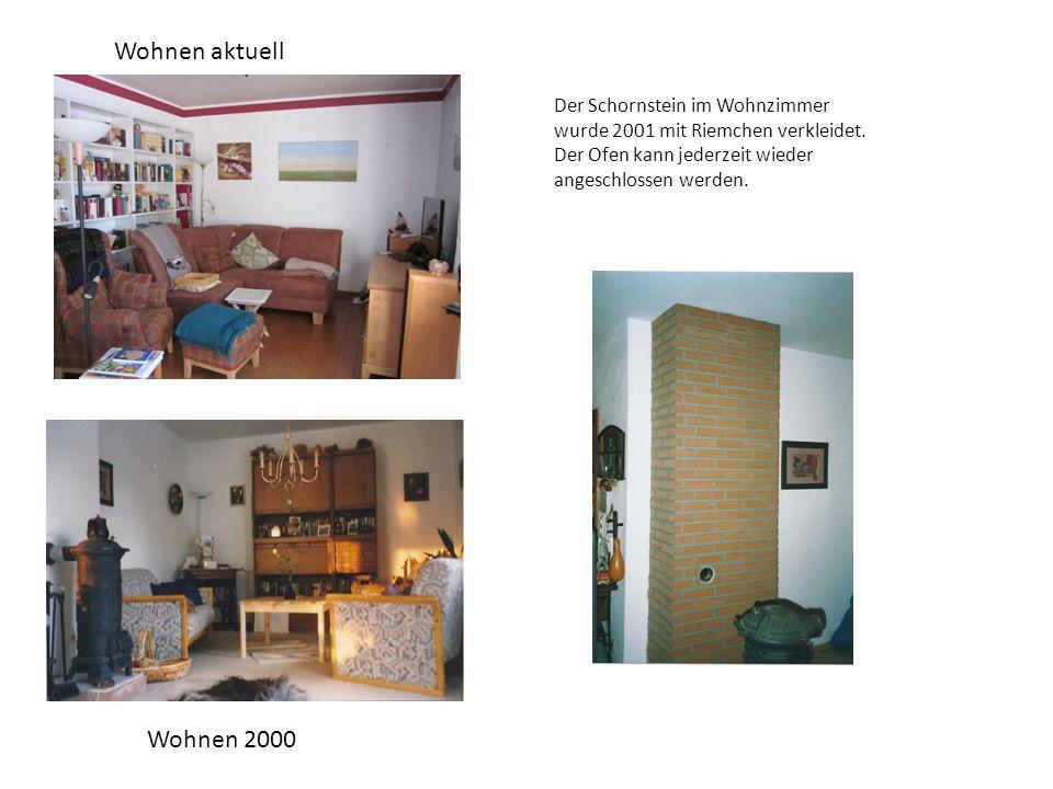 Wohnen aktuell Wohnen 2000 Der Schornstein im Wohnzimmer wurde 2001 mit Riemchen verkleidet.