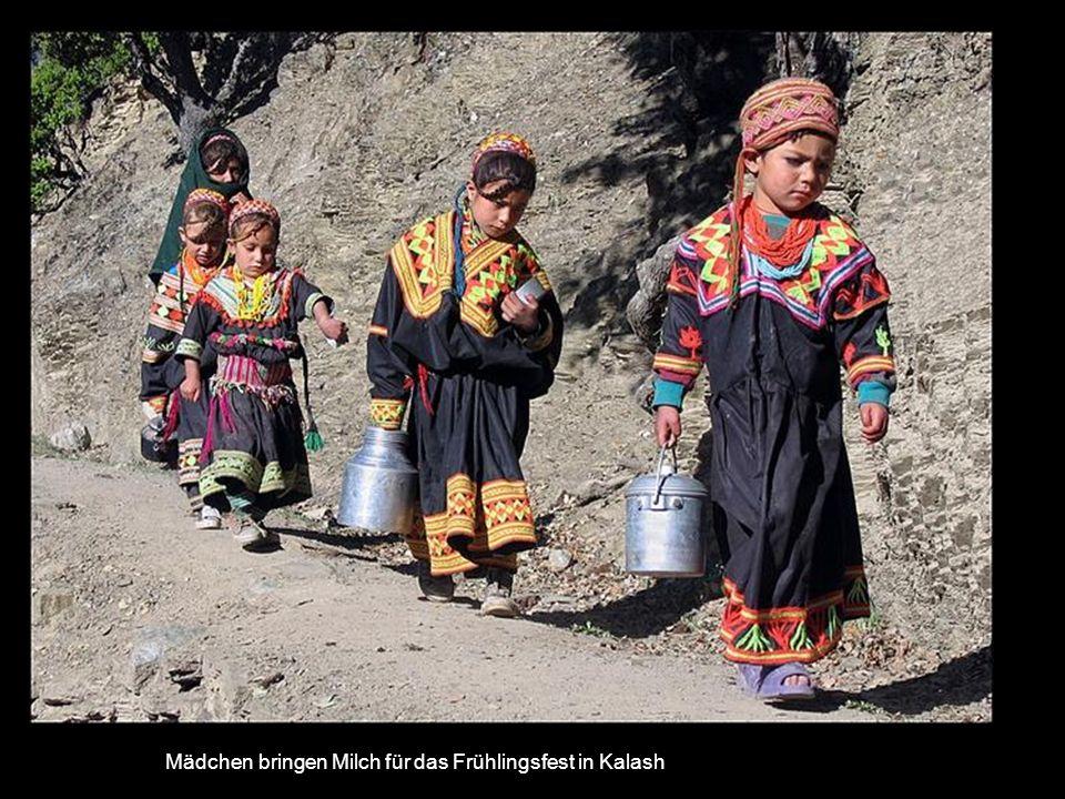 Das Dorf Kalash im Birir-Tal in Pakistan