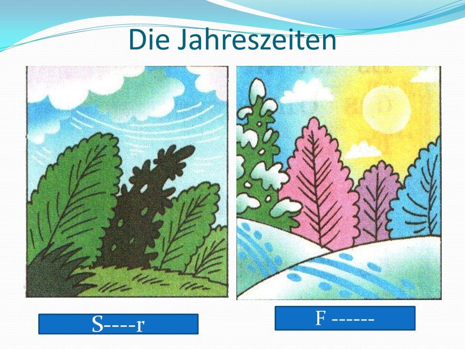 Hausaufgabe Закрась названия месяцев красным цветом, названия дней недели – синим, времён года – зелёным.