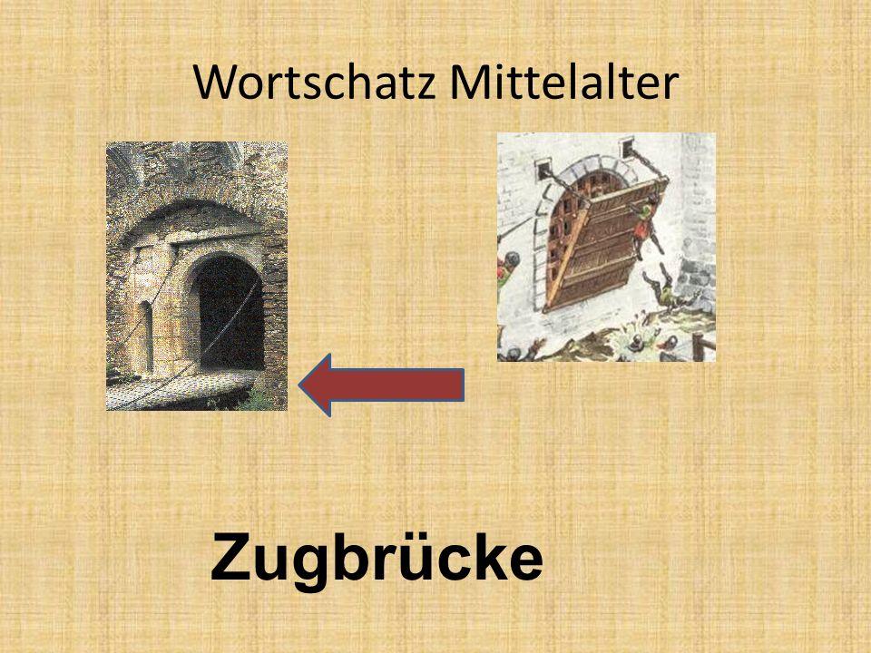 Wortschatz Mittelalter Zugbrücke