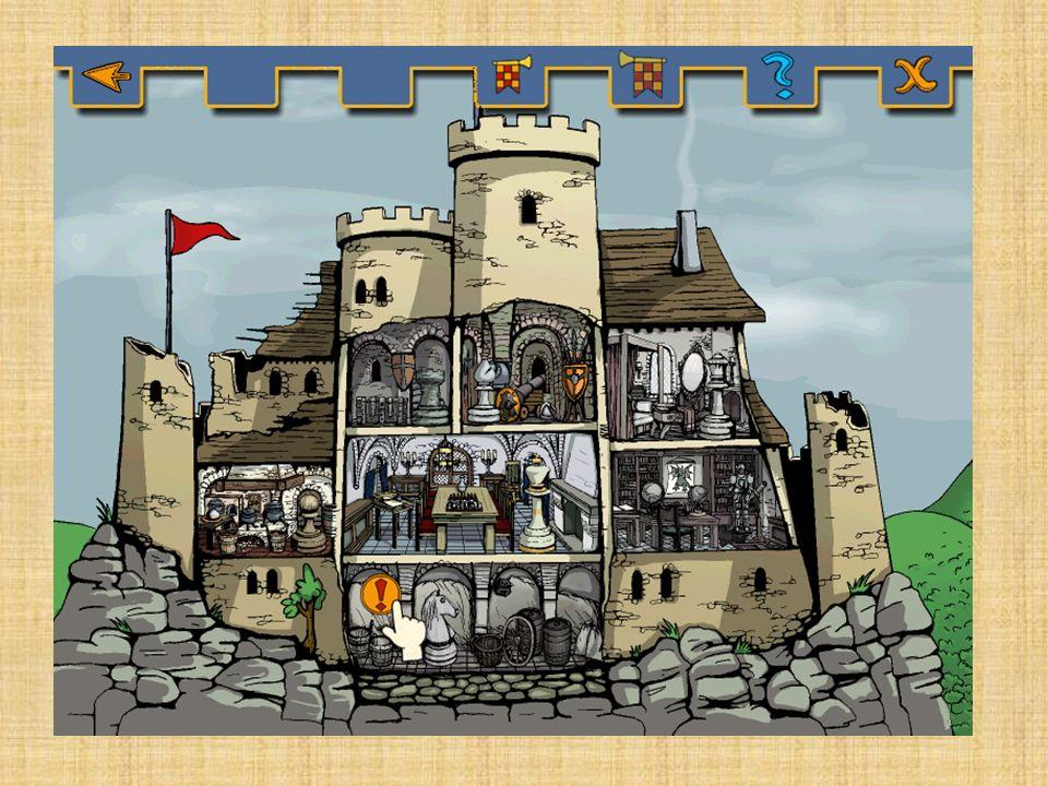 Menschen in der Burg Burgherr Burgherrin Söhne (sie gehen mit 7 Jahren fort, um die Ritterausbildung auf einer anderen Burg zu beginnen) Töchter (sie