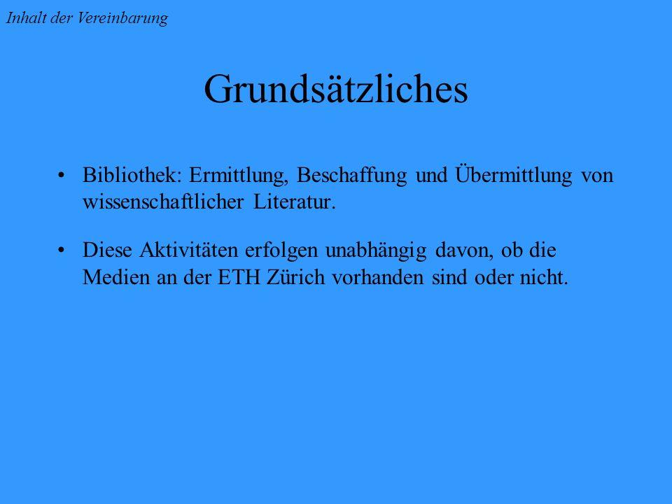 Grundsätzliches Bibliothek: Ermittlung, Beschaffung und Übermittlung von wissenschaftlicher Literatur.