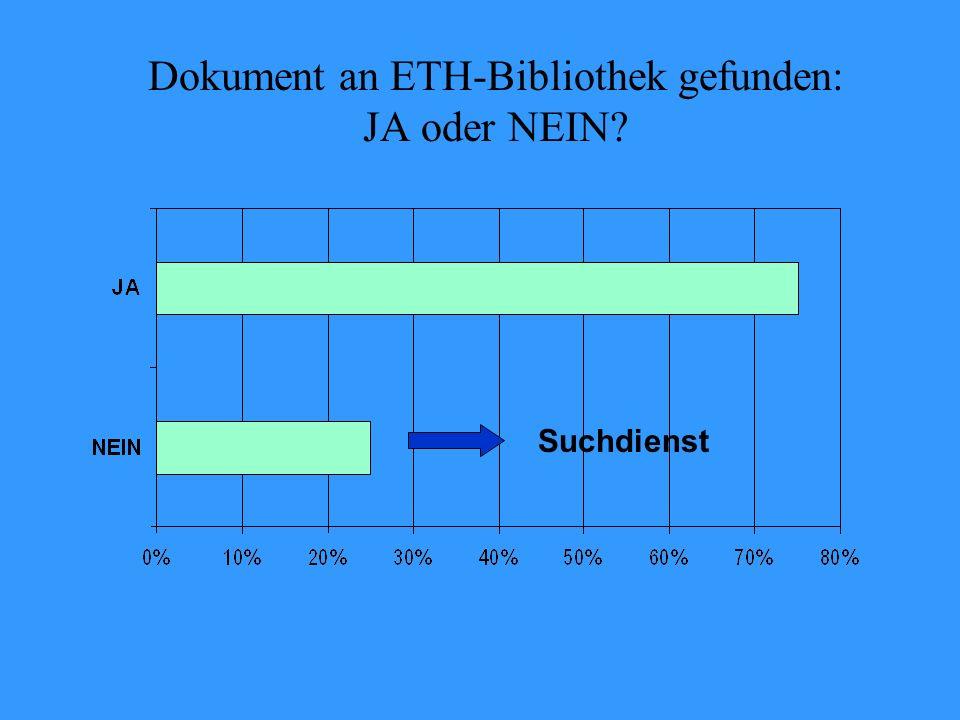 Dokument an ETH-Bibliothek gefunden: JA oder NEIN Suchdienst
