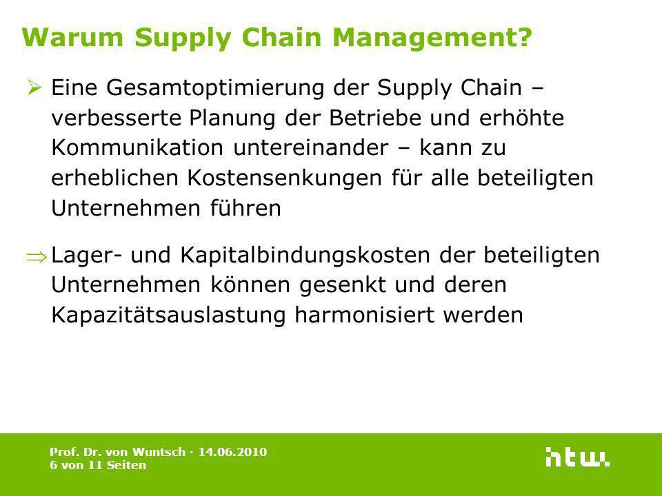 Eine Gesamtoptimierung der Supply Chain – verbesserte Planung der Betriebe und erhöhte Kommunikation untereinander – kann zu erheblichen Kostensenkung