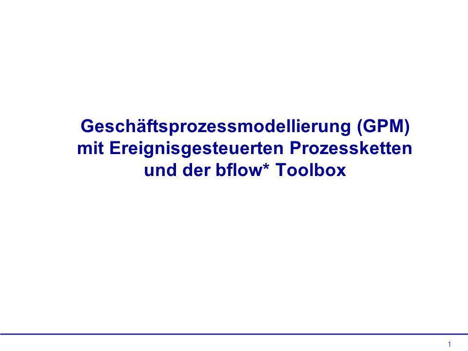 1 Geschäftsprozessmodellierung (GPM) mit Ereignisgesteuerten Prozessketten und der bflow* Toolbox