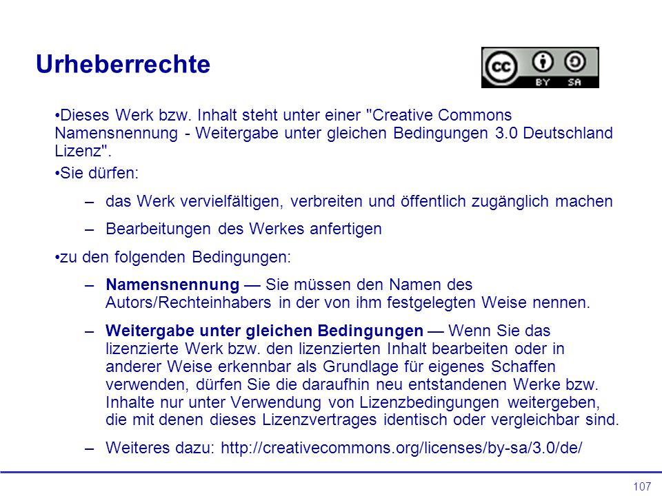 107 Urheberrechte Dieses Werk bzw.