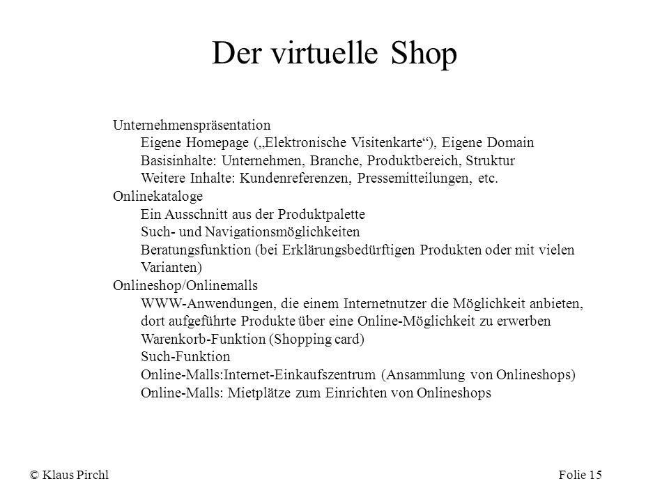 Unternehmenspräsentation Eigene Homepage (Elektronische Visitenkarte), Eigene Domain Basisinhalte: Unternehmen, Branche, Produktbereich, Struktur Weit