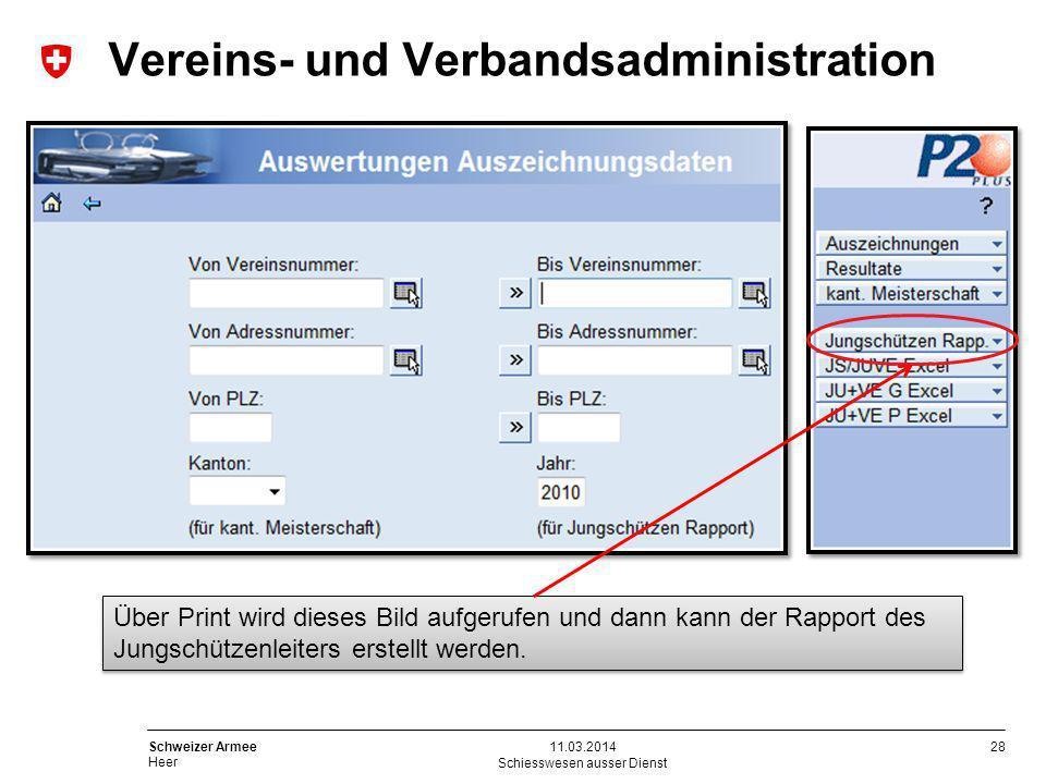 28 Schweizer Armee Heer Schiesswesen ausser Dienst 11.03.2014 Über Print wird dieses Bild aufgerufen und dann kann der Rapport des Jungschützenleiters