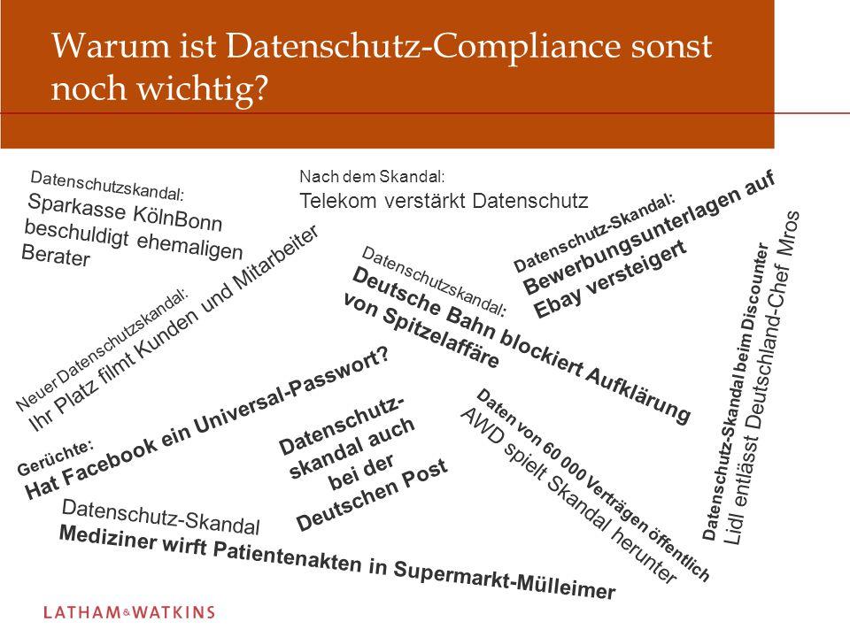 Warum ist Datenschutz-Compliance sonst noch wichtig.