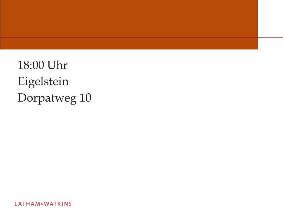 18:00 Uhr Eigelstein Dorpatweg 10