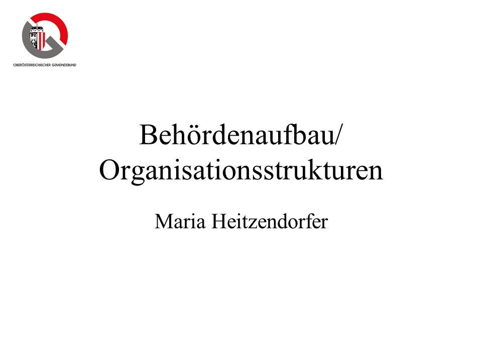Behördenaufbau/ Organisationsstrukturen Maria Heitzendorfer