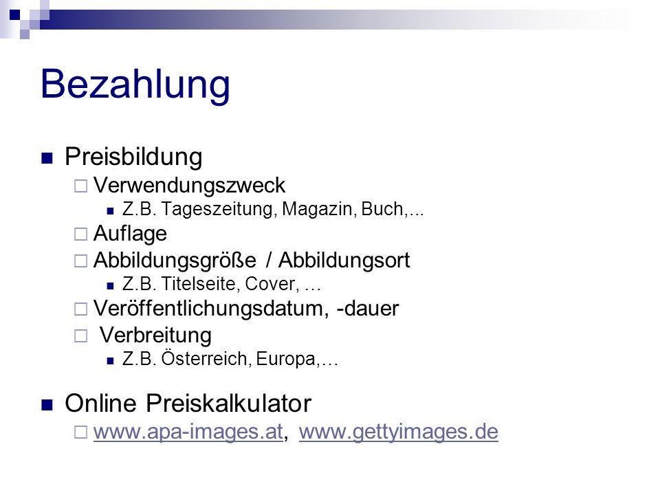 Bezahlung Preisbildung Verwendungszweck Z.B. Tageszeitung, Magazin, Buch,...