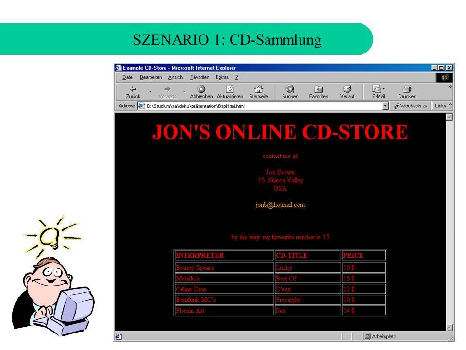 SZENARIO 1: CD-Sammlung JON