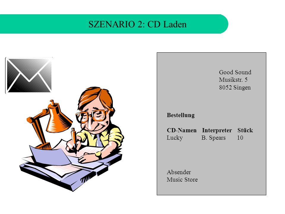 SZENARIO 2: CD Laden Die neue Single von Britney Spears ist bereits wieder ausverkauft!
