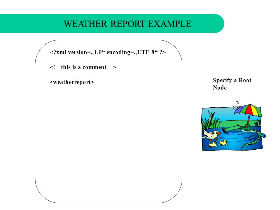 Write a Comment WEATHER REPORT EXAMPLE