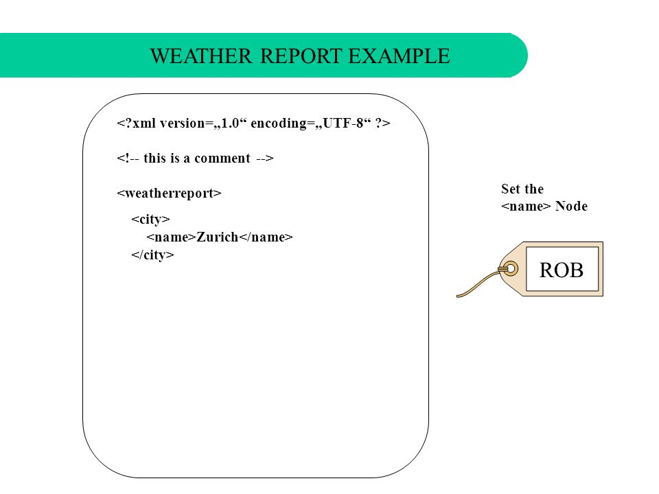 Set a Node WEATHER REPORT EXAMPLE