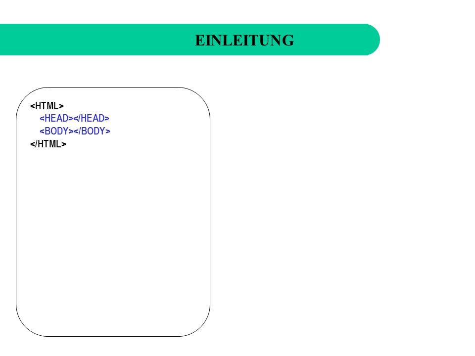 Was kann HTML