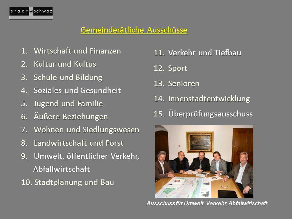 1.Wirtschaft und Finanzen 2. Kultur und Kultus 3.