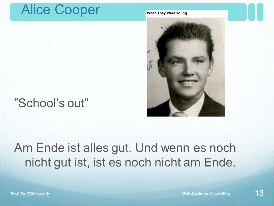Controlling Übersicht 12 Prof. Dr. HildebrandtWeb-Business Controlling