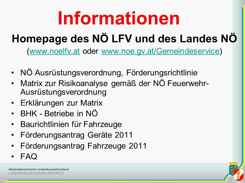 Informationen Homepage des NÖ LFV und des Landes NÖ (www.noelfv.at oder www.noe.gv.at/Gemeindeservice)www.noelfv.atwww.noe.gv.at/Gemeindeservice NÖ Au