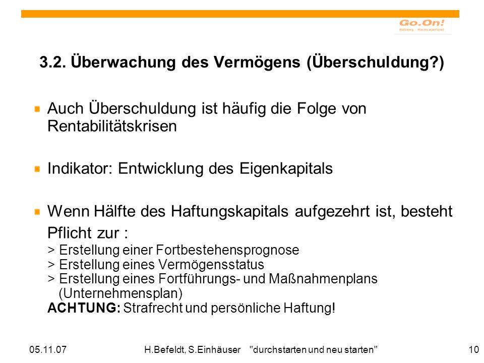 05.11.07H.Befeldt, S.Einhäuser durchstarten und neu starten 10 3.2.