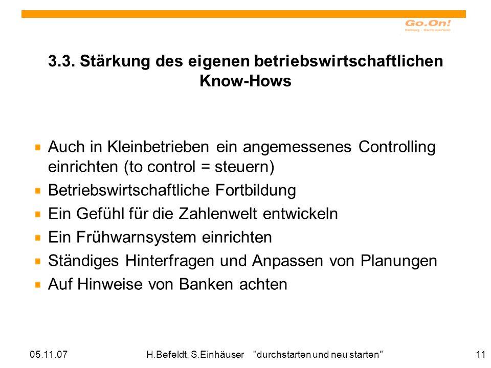 05.11.07H.Befeldt, S.Einhäuser durchstarten und neu starten 11 3.3.