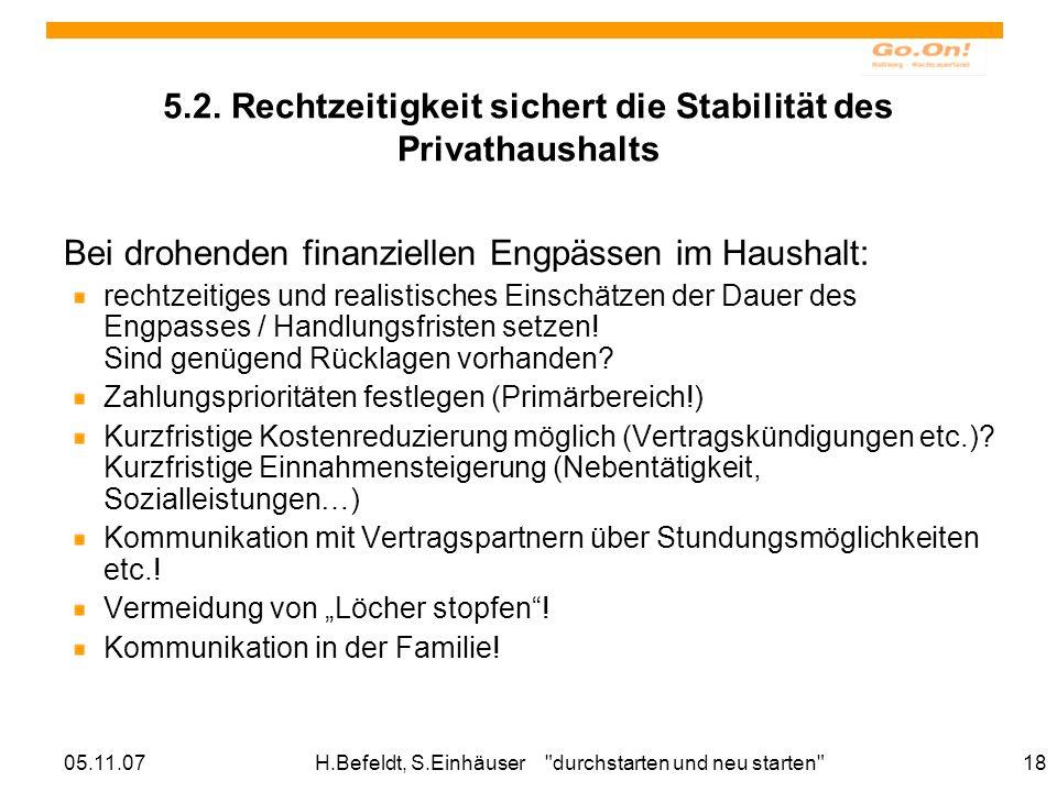 05.11.07H.Befeldt, S.Einhäuser durchstarten und neu starten 18 5.2.