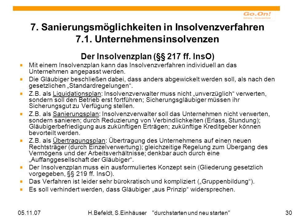 05.11.07H.Befeldt, S.Einhäuser durchstarten und neu starten 30 7.