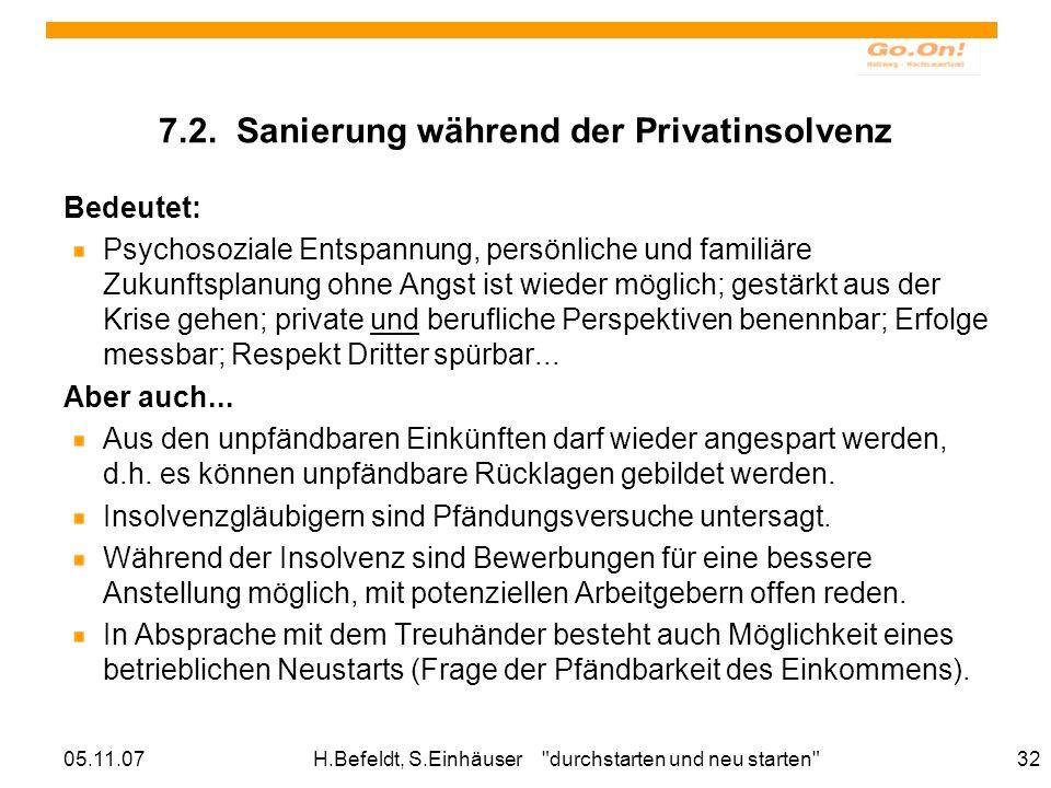 05.11.07H.Befeldt, S.Einhäuser durchstarten und neu starten 32 7.2.