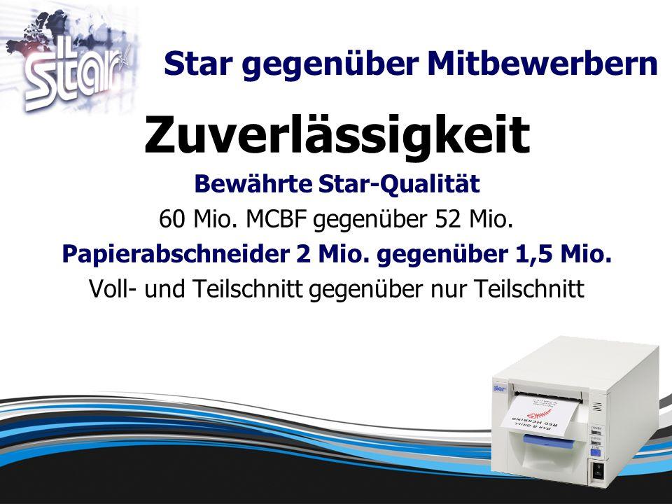 Zuverlässigkeit Bewährte Star-Qualität 60 Mio. MCBF gegenüber 52 Mio.