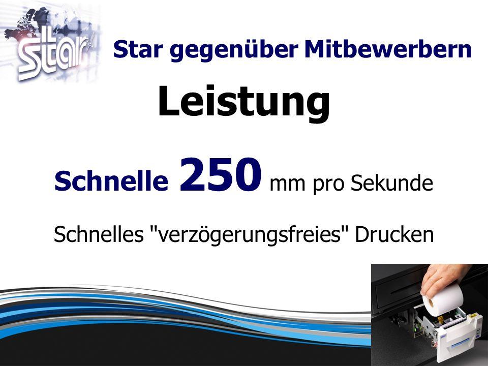 Leistung Schnelle 250 mm pro Sekunde Schnelles verzögerungsfreies Drucken Star gegenüber Mitbewerbern