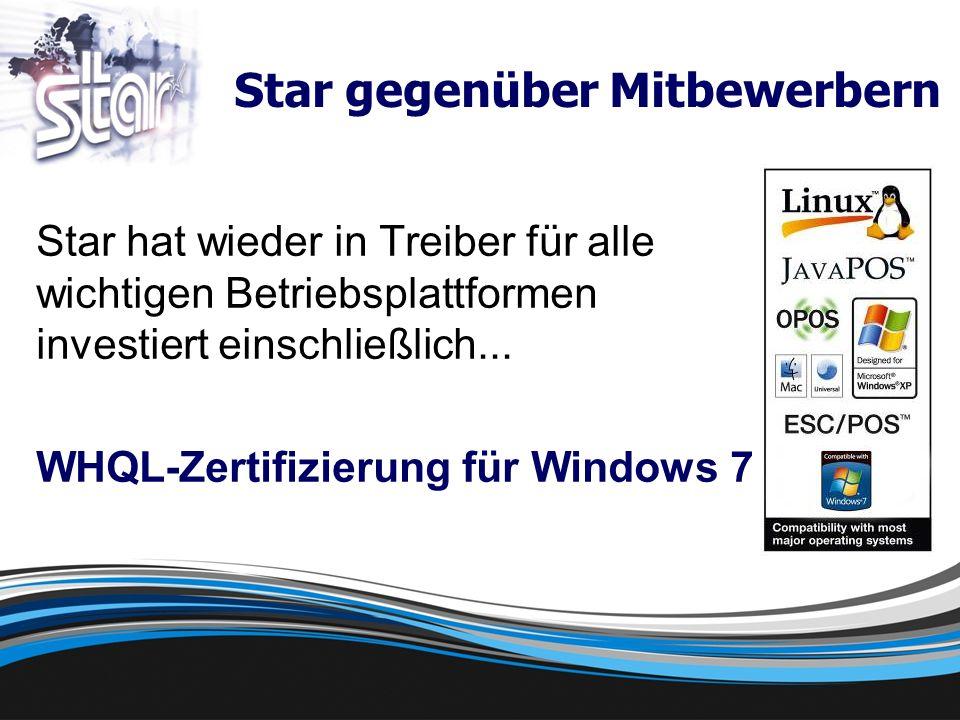 Star hat wieder in Treiber für alle wichtigen Betriebsplattformen investiert einschließlich...