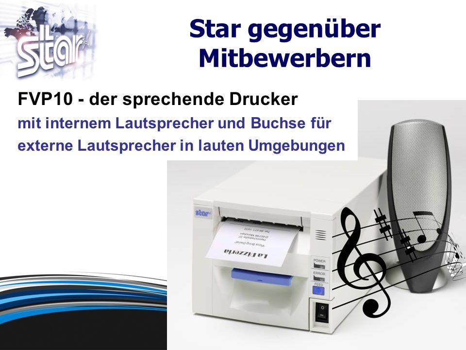FVP10 - der sprechende Drucker mit internem Lautsprecher und Buchse für externe Lautsprecher in lauten Umgebungen