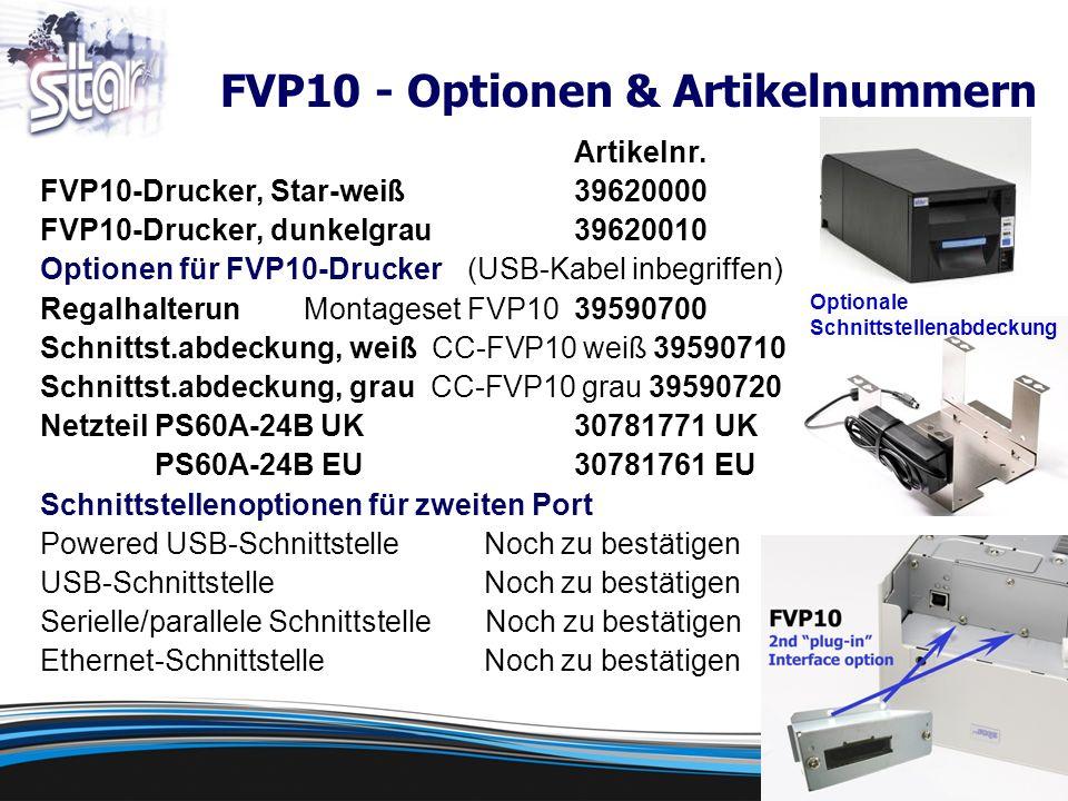 FVP10 - Optionen & Artikelnummern Artikelnr.