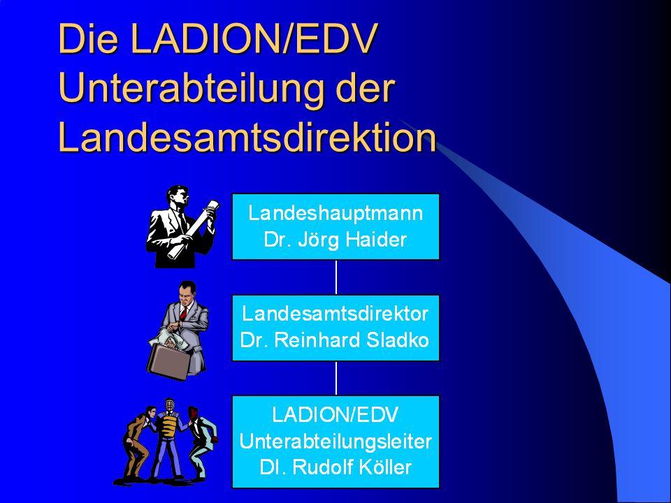 Die LADION/EDV Unterabteilung der Landesamtsdirektion
