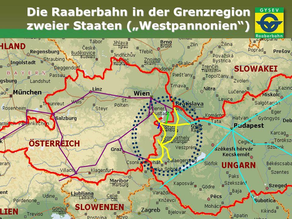 Die Raaberbahn in der Grenzregion zweier Staaten (Westpannonien)