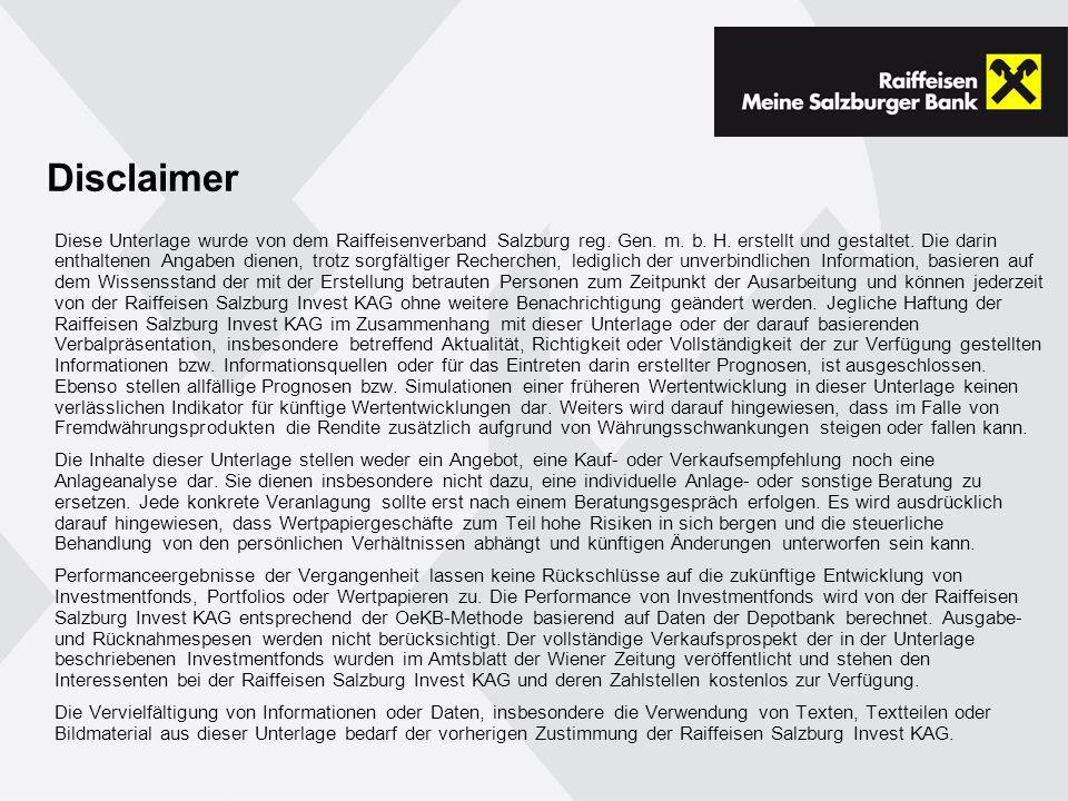 Disclaimer Diese Unterlage wurde von dem Raiffeisenverband Salzburg reg.