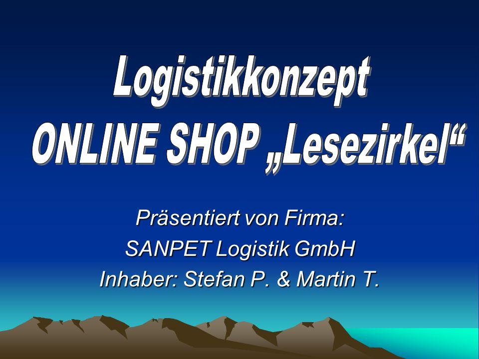 Präsentiert von Firma: SANPET Logistik GmbH Inhaber: Stefan P. & Martin T.