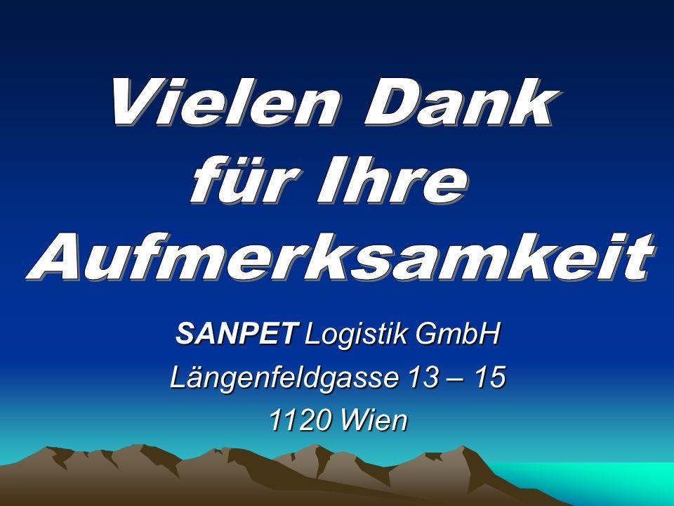SANPET Logistik GmbH Längenfeldgasse 13 – 15 1120 Wien