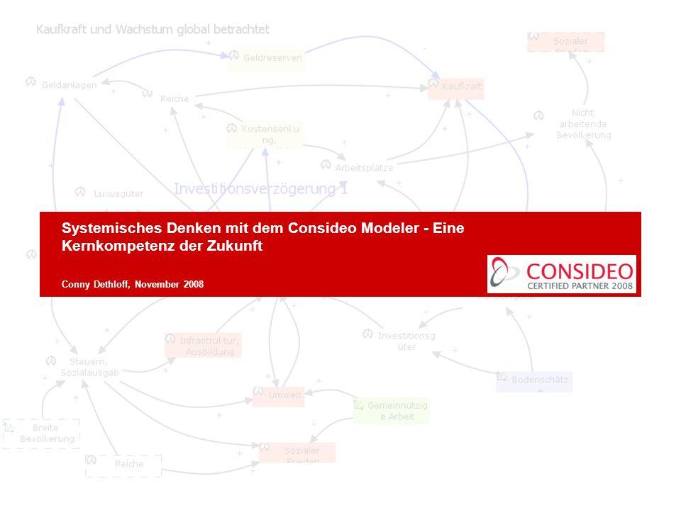 Systemisches Denken mit dem Consideo Modeler - Eine Kernkompetenz der Zukunft Conny Dethloff, November 2008