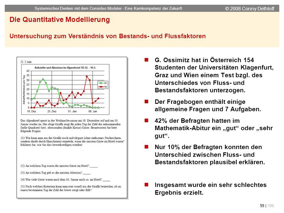 © 2008 Conny Dethloff Systemisches Denken mit dem Consideo Modeler - Eine Kernkompetenz der Zukunft 55 | 106 G. Ossimitz hat in Österreich 154 Student