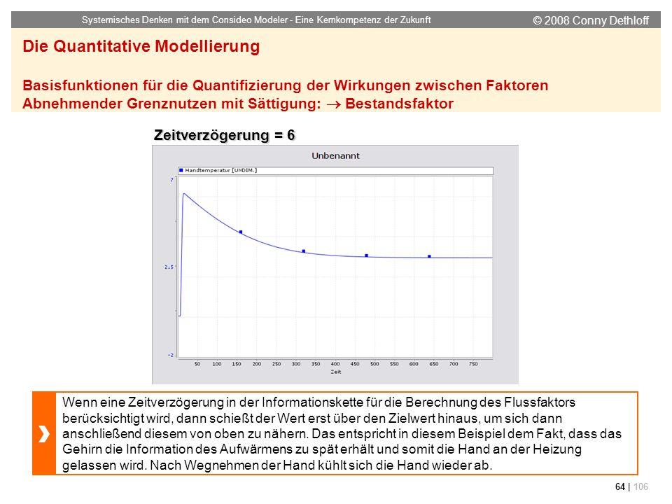 © 2008 Conny Dethloff Systemisches Denken mit dem Consideo Modeler - Eine Kernkompetenz der Zukunft 64 | 106 Die Quantitative Modellierung Basisfunkti