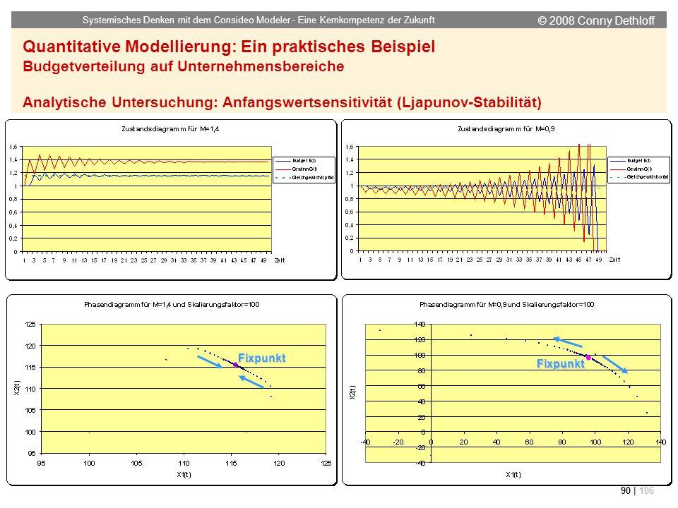 © 2008 Conny Dethloff Systemisches Denken mit dem Consideo Modeler - Eine Kernkompetenz der Zukunft 90 | 106 Quantitative Modellierung: Ein praktische